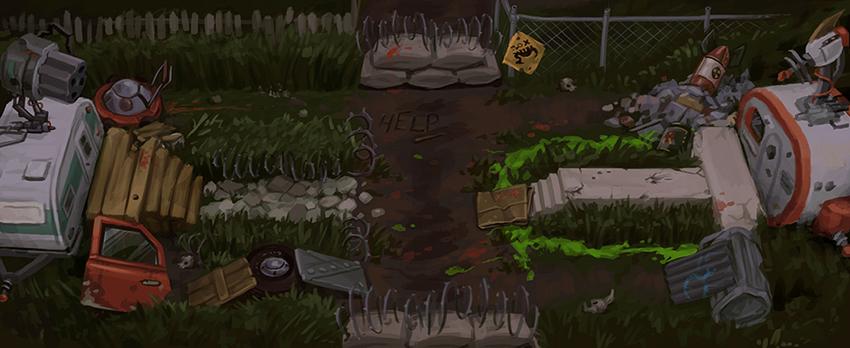 Trailer Park Battle Map