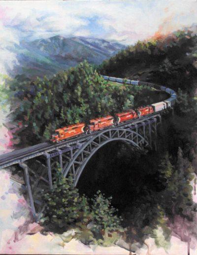 Tain Over a Bridge