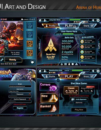 Arena of Heroes Screens